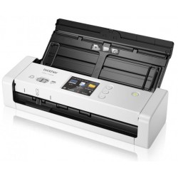 Document scanner BROTHER ADS1700W, A4 2-sided document scanner 25 ppm 2-sided colour/mono scan, Inbuilt wireless network connectivity