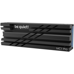 be quiet! M.2 SSD cooler MC1 Pro COOLER, Integrated heat pipe, Fits single and double sided M.2 2280 modules, black