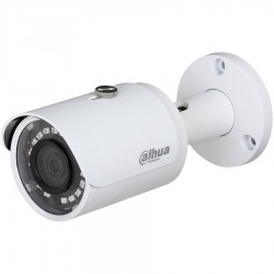"""Dahua IP camera 2MP, Mini Bullet, 1/2.7"""" CMOS, 1920×1080 Effective Pixels, 25fps@1080P, H265, Focal Length 2.8mm (View angle 105°), Max IR distance 30m, 0.01Lux/F2.0, 0Lux/F2.0 IR on, DC12V, PoE, 5.5W, IP67."""