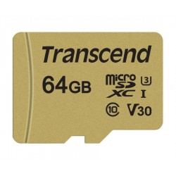 Transcend 64GB microSDXC I, Class 10, U3, V30, MLC with Adapter, read: up to 95MBs, 60MB/s